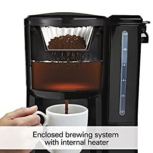 Hamilton Beach 12-Cup Coffee Maker, Programmable BrewStation Dispensing Coffee Machine (47900),Black – Removable Reservoir