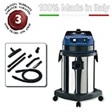 EOLO PROFESSIONAL VACUUM CLEANER FOR TOXIC HARMFUL SUBSTANCES + ACCESSORIES KIT LP34 (62 litres) MADE IN ITALY 230 Volts (before order on request 110-120 Volts)
