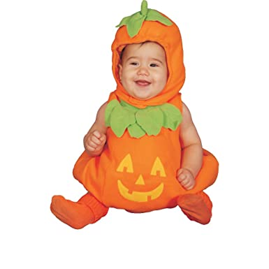 Baby Pumpkin Infant Costume Age 0-6mo.  sc 1 st  Amazon.com & Amazon.com: Dress Up America Baby Pumpkin: Clothing