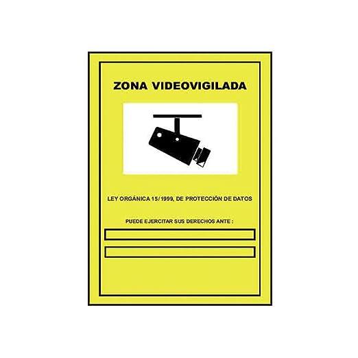 CARTEL ZONA VIDEOVIGILADA 21X29CM: Amazon.es: Iluminación