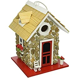 Home Bazaar- Hand-made Fieldstone Guest Cottage Birdhouse - Eco Tough Bird House