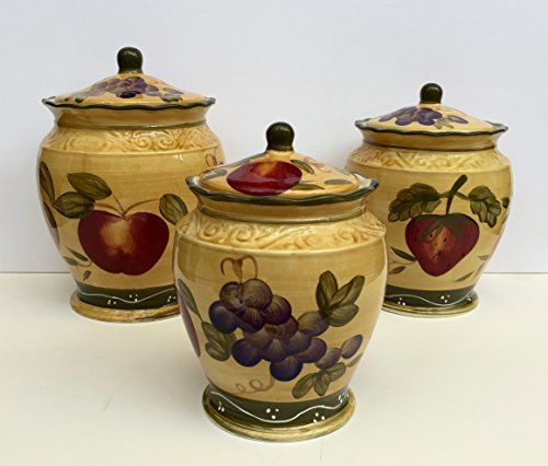 wine and grape canister set - 1