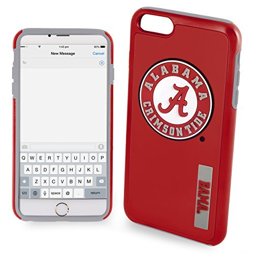 NCAA Alabama IPhone 6 Plus Dual Hybrid Case (2 Piece), Red by Forever