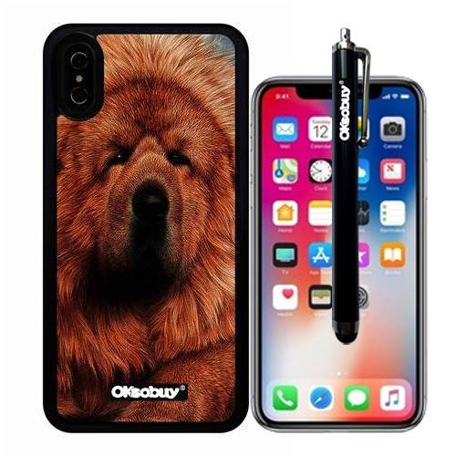 iphone X Case, Tibetan Mastiff Case, OkSoBuy Ultra Thin Soft Silicone Case for Apple iphone X - Tibetan Mastiff (Camel Tibetan)