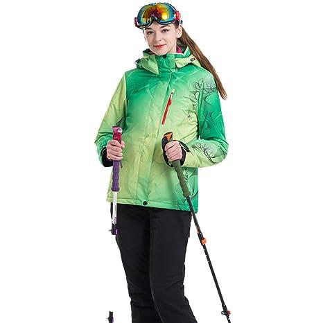 ZXGJHXF Nuevo Traje de esquí para Mujer Chaquetas de Snowboard + ...