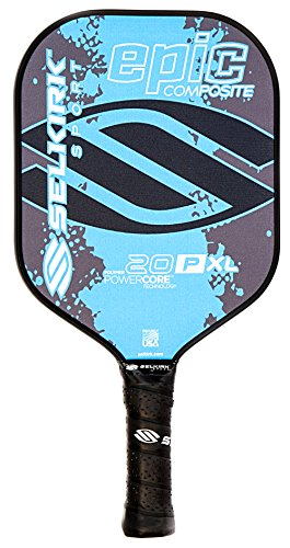 - Selkirk Sport 20P Epic Polymer Honeycomb Core Composite Pickle Ball Paddle, Cyan Blue, X-Large