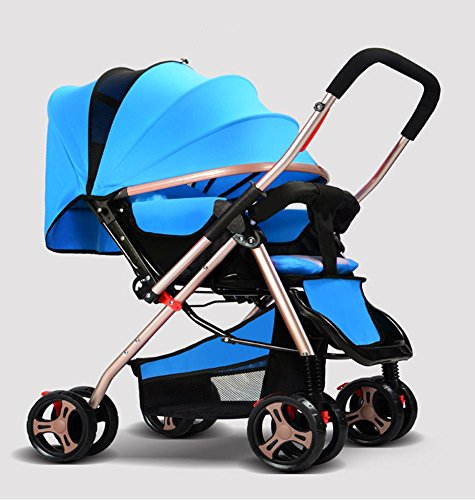 Blue 3 Wheeler Pram - 8