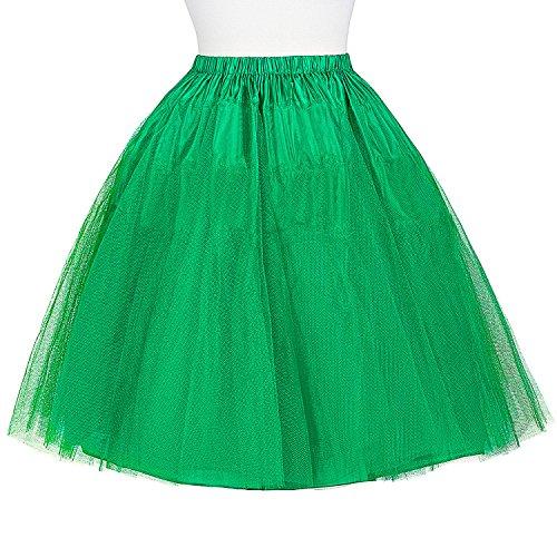 Belle bp56 7 Jupe Swing en coton en Jupe Green Enchantement vintage tulle cocktail Poque g7rSqwg