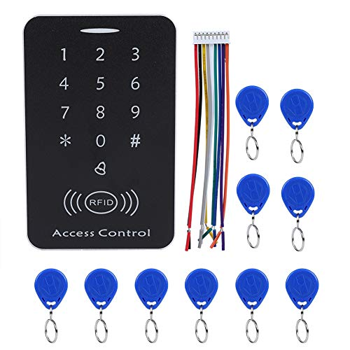 Sonew RFID Touch Metal Access Control Password Access Keypad Machine Controller with 10pcs ID Keyfobs