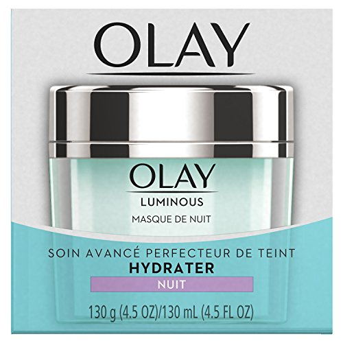 Olay Regenerist Luminous Overnight Facial Mask Gel Moisturizer with Vitamin C & E, 4.5 Ounce Packaging may Vary