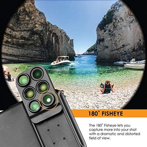 Build-in Grip Ztylus Switch 6 MK II Lens Kit for Apple iPhone XS//X: 6 in 1 Dual Optics Lens System Double Layer Protection Durable Phone Case Fisheye, Telephoto, Wide-Angle, Macro and Super Macro
