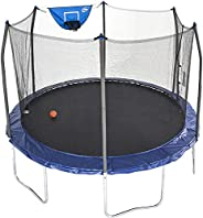 Skywalker Trampolines 12-Feet Jump N' Dunk Trampoline with Safety Enclosure and Basketball