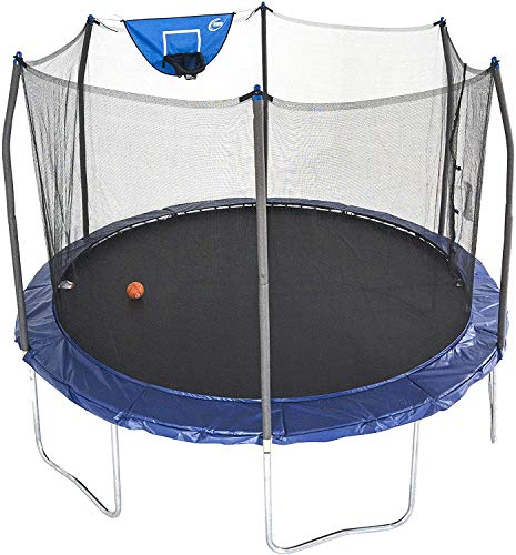 Skywalker-Trampolines-12-Foot-Jump-N-Dunk-Trampoline-with-Enclosure-Net-Basketball-Trampoline