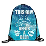 this girl colleen hoover - This Guy Needs A Beer Cool Drawstring Travel Sports Backpack
