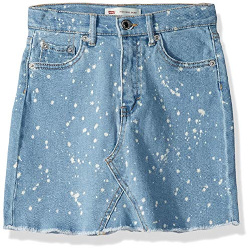 (Levi's Girls' Big High Rise Denim Skirt, Kingston, 12)