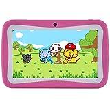BENEVE Tablet de Niños, Andriod 7.0 Tablet con 1 GB de RAM 8 GB ROM y Wi-Fi, niños Software iwawwa preinstalado (Rosa)