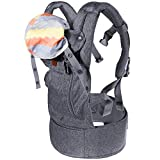 Lictin Baby Carrier for Newborn-Baby Wrap Carriers Front and Back, Breathable Adjustable Swaddle Wrap Ergonomic Breastfeeding Baby Carrier for Infants from 3.5 to 15 kg/7.7 to 33 lbs Handsfree