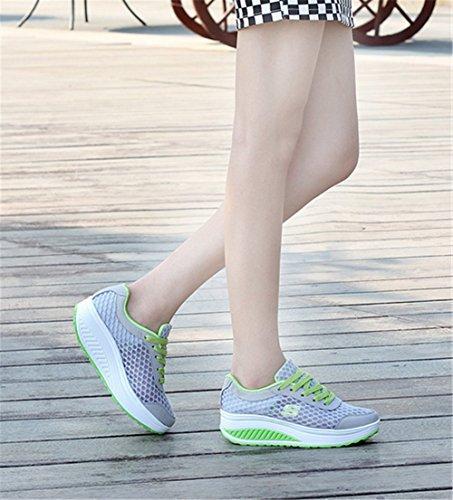 レディース 船型 厚底 スリッポン ウォーキングシューズ 矯正靴 5cm  春夏秋スポーツシューズ  スニーカー トーニング ランニング ダイエット 歩行姿勢調整