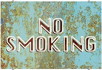 27x18 CGSignLab No Smoking Ghost Aged Blue Premium Acrylic Sign