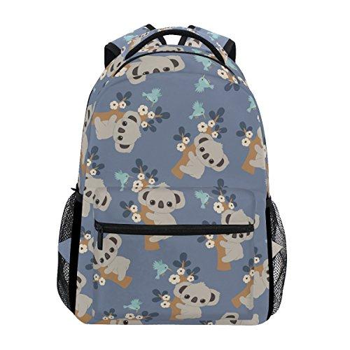Koala Floral School Backpack for Boys Girls Bookbag Travel Bag