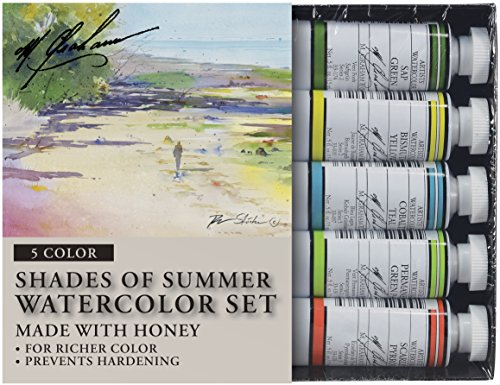 M. Graham Tube Watercolor Paint Shades of Summer 5-Color Set, - Shades M