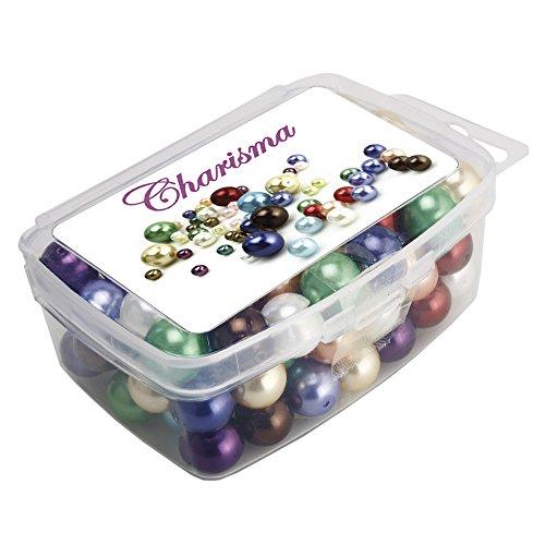 Charisma 10mm 100pcs Satin Luster Glass Pearl Beads Loose Bead Charm Wholesale (10mm Glass Pearl Beads)