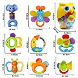 Baby Rattle Sets Teether Rattles Toys, 8pcs