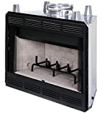 Fireplace Louvred Wd Burn 36in