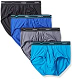 Hanes Men's 4-Pack X-Temp Performance Cool Polyester Dyed Briefs, Assorted, Medium