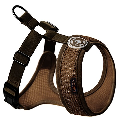 edom Mesh Harness Specially Made for Small Dogs, Brown, Small ()
