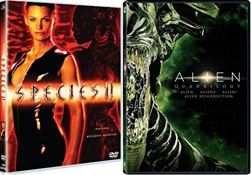 Alien Quadrilogy + Species II Sci-Fi Horror Blu Ray DVD Movie Set