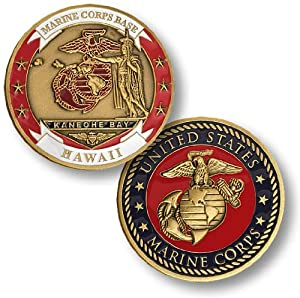 Marine Corps Base Kaneohe Bay, Hawaii Challenge Coin