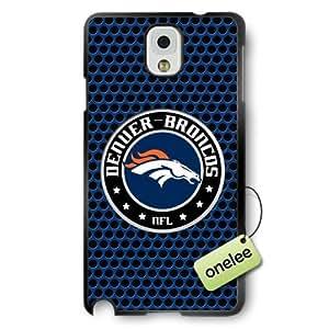 NFL Denver Broncos Team Logo Samsung Galaxy Note 3 Black Rubber(PC) Soft Case Cover - Black