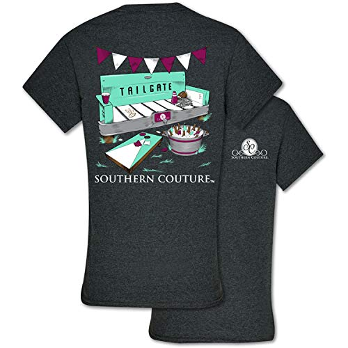 Southern Couture Classic Fit Tailgate Adult T-Shirt Dark Heather Large -