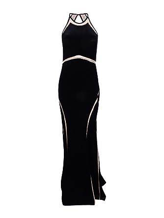 28484c8e Xscape Women's Velvet Illusion Cutout Gown (6, Black/Nude) at Amazon ...
