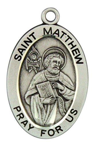 saint-matthew-pray-for-us-1-1-16-inch-sterling-silver-medal