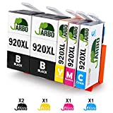 JARBO Replaced for HP 920XL 920 Ink Cartridges High Yield Compatible with HP Officejet 6500 6500A 6000 7000 7500 7500A (2 Black, Cyan, Magenta, Yellow)