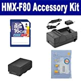 Samsung HMX-F80 Camcorder Accessory Kit includes: ZELCKSG Care & Cleaning, SDIABP210E Battery, SDM-1524 Charger, SD4/16GB Memory Card