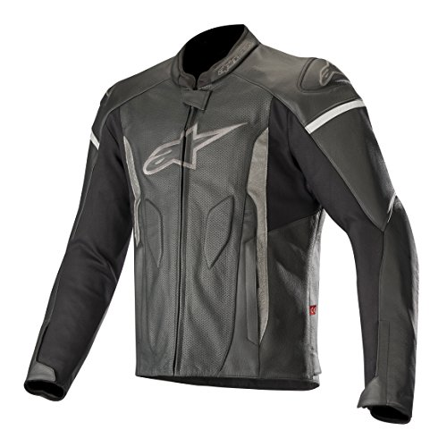 - Faster Airflow Leather Street Motorcycle Jacket (62 EU, Black Black)