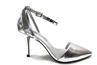 a4cdf9beb94 COLOURCHERIE Women s Court Shoes Silver Silver  Amazon.co.uk  Shoes ...