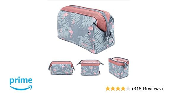 Amazon.com   Makeup Bag Light Blue Flamingo Brush Organizer   Beauty aa486538be825