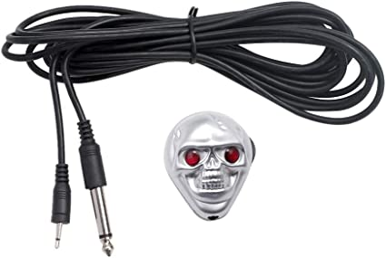 HEALLILY Metal Guitar Pickup Skull Decor Amplifier Micrófono ...