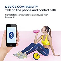 TREBLAB XR100 Bluetooth Sport Headphones, Best Wireless Earbuds For Running or Workout, Noise Cancelling Sweatproof Cordless Headset For Gym, True HD Beats Earphones with Microphone For Iphone Android