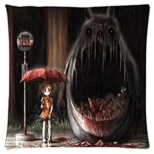 Funny Totoro and FriendsTotoro and Friends ~ Durable Unique Throw Square Pillow Case 18X18 inches Fashionable Diy Custom Personalized Pillowcase Design by Engood