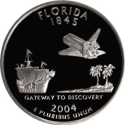 2004 Florida S Gem Proof State Quarter US Coin