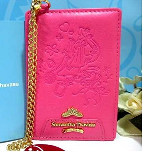 Samantha Thavasa Disney limited Tangled Pass Case Red Pink New From Japan F/S