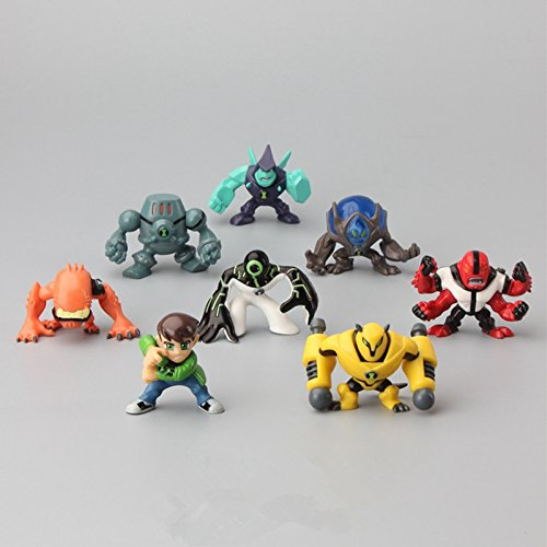 New 8Pcs/Set Ben 10 Action Figures Toys 3-5CM Protector Of Earth PVC Ben 10 Brinquedo Doll (Ben 10 Protector Of Earth Psp Game)