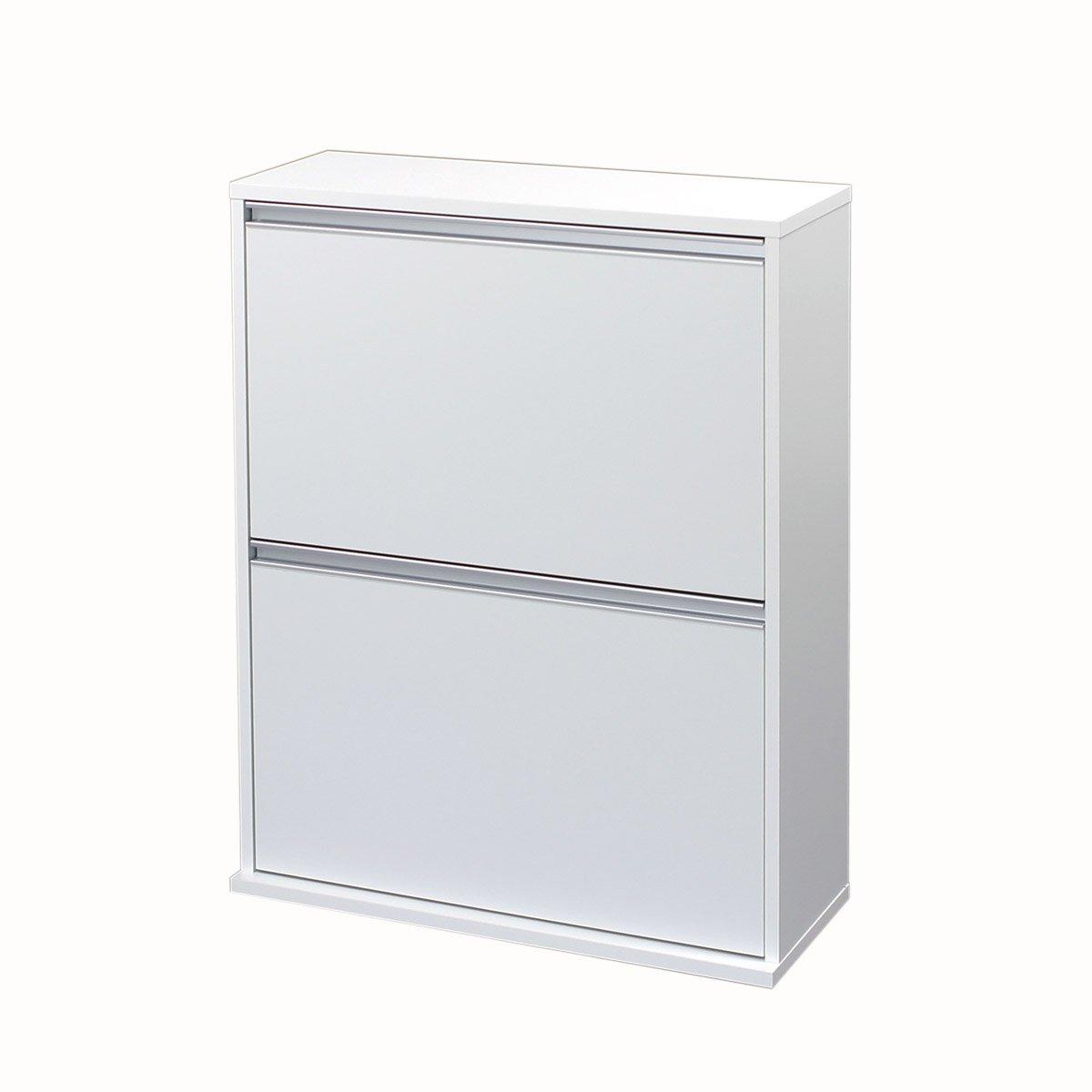 川口工器 木製 分別 ダストボックス (4分別, ホワイト) 19044 B075M7LQ4K 4分別|ホワイト ホワイト 4分別