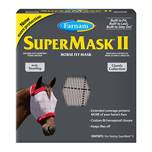 Farnam Home and Garden 100502911 No Ears Fly Mask Yearling for Horse