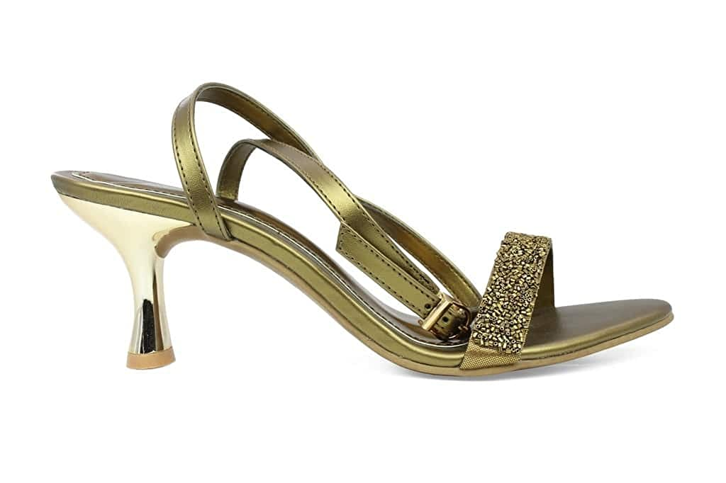 00281df6252bf5 Inc.5 Women s Ant Gold Beaded Sandals(6703) - 9 UK  Buy Online at Low  Prices in India - Amazon.in